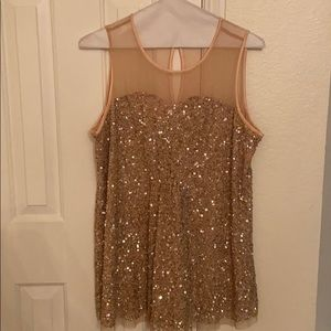 CLEARANCE: Sequined embellished dressy top